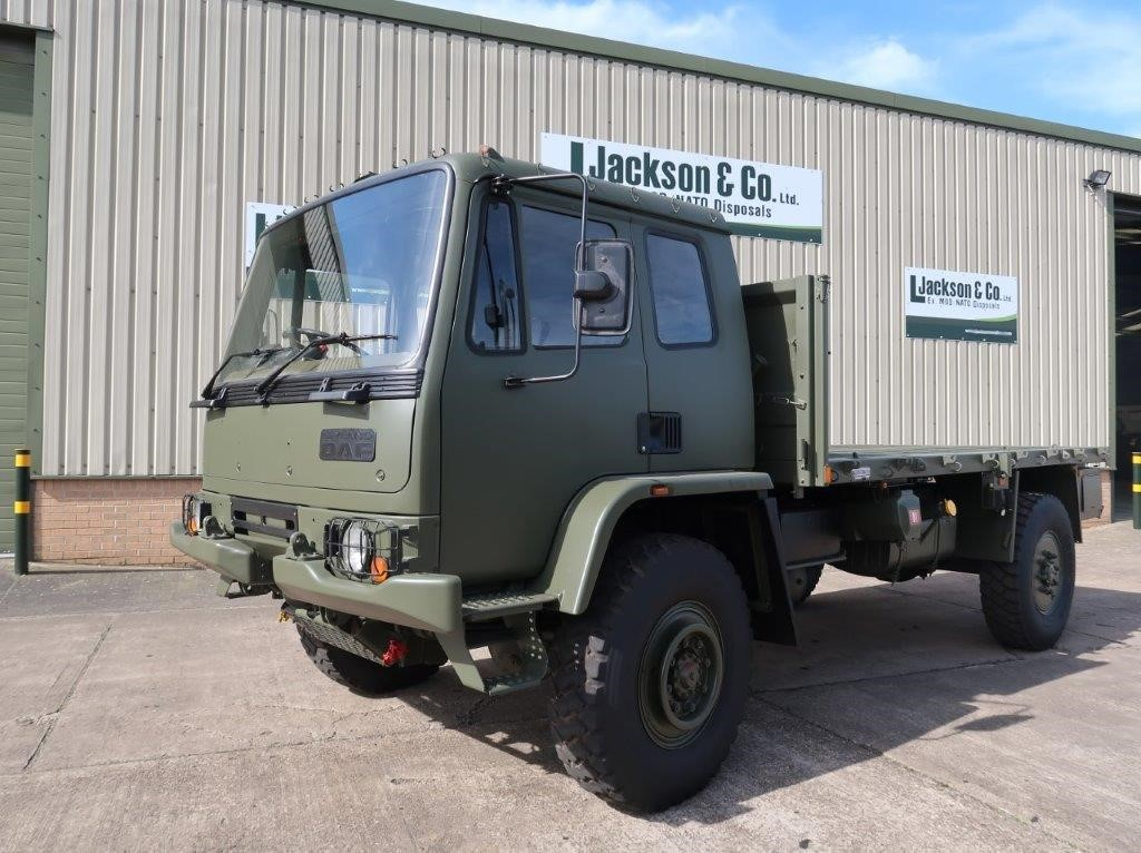 Leyland DAF 4X4 Truck Flat Bed Cargo trucks | Military Land Rovers 90, 110,130, Range Rovers, Mercedes for Sale