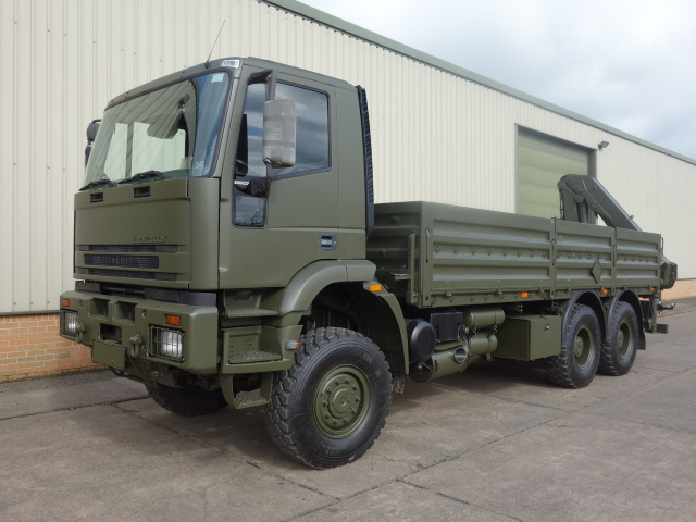 Iveco Eurotrakker 6x6 Cargo truck With Rear Mounted Crane | Military Land Rovers 90, 110,130, Range Rovers, Mercedes for Sale