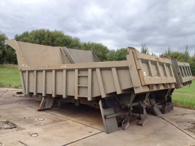 Roelof Heavy Duty Steel Rock Bodies with Edbro Tipping gear for sale | military vehicles