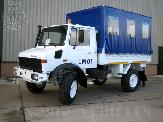 Mercedes unimog U1300L canopy personnel carrier truck | used military vehicles, MOD surplus for sale