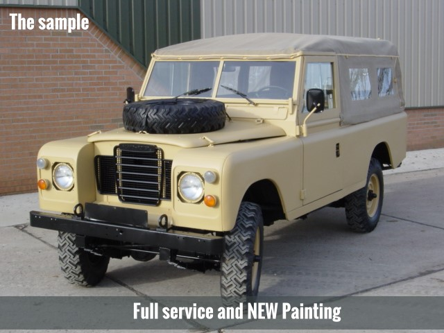 WAS SOLD Land Rover Series III 109 -LHD LWB soft tops (diesel)