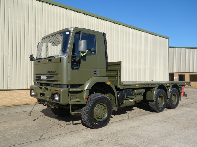 Iveco 260E37 EuroTrakker   6x6 cargo flat bed trucks | used military vehicles, MOD surplus for sale