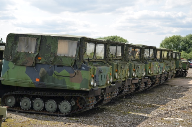 Hagglund BV206  soft top with ammo body   used military vehicles, MOD surplus for sale