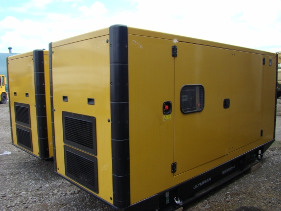 WAS SOLD NEW  Caterpillar Olympian 200 KVA silent generator set.