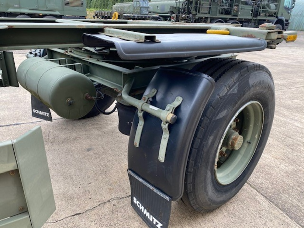 Schmitz 20FT Draw Bar Container Trailer   used military vehicles, MOD surplus for sale