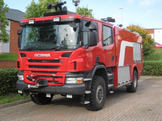 SOLD Scania P410 4X4 Dual Role Viper Airport Crash Tender | used military vehicles, MOD surplus for sale