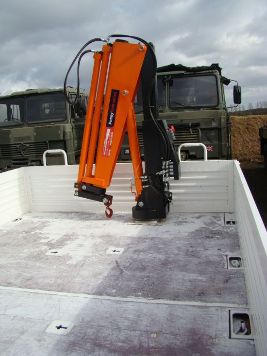 Mercedes Unimog U1300L crane truck for sale