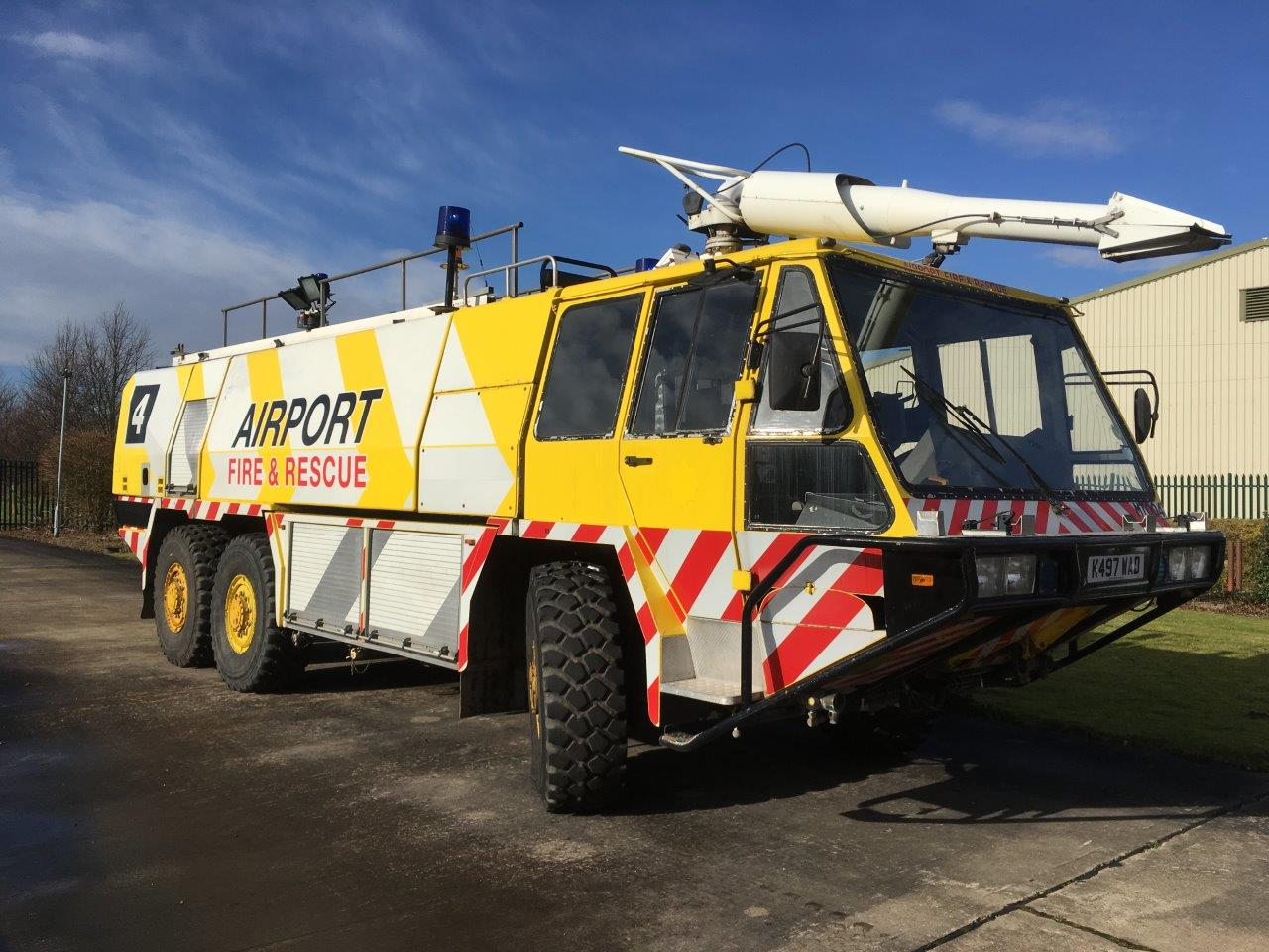 Simon Gloster Protector 6x6 Airport Crash Tender  for sale . The UK MOD Direct Sales