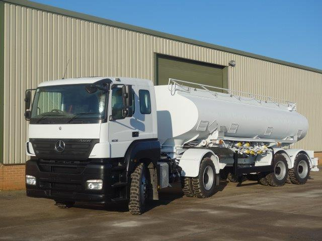 Mercedes Axor 8x6 tanker truck | used military vehicles for sale