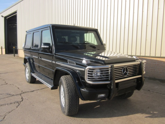 Armoured Mercedes G500  Wagon SUVs- 4x4  for sale . The UK MOD Direct Sales