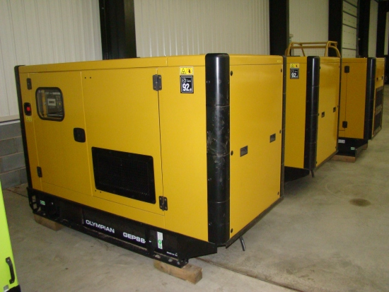 WAS SOLD Caterpillar Olympian 50 KVA generator Unused