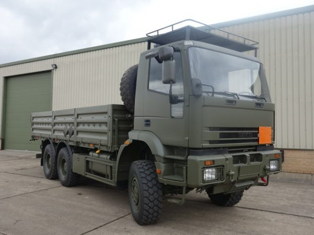 Iveco 260E37 EuroTrakker   6x6 cargo flat bed trucks for sale | military vehicles