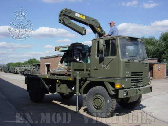 Bedford TM 4x4 Cargo with Atlas Crane  for sale. The UK MOD Direct Sales