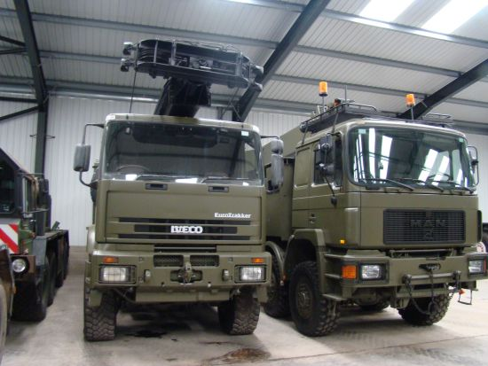 MAN 41.372 8x8 LHD recovery/ 28t crane truck  (MOD and NATO Disposals)
