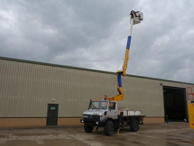 Mercedes Unimog U1550L Cherry Picker | used military vehicles, MOD surplus for sale