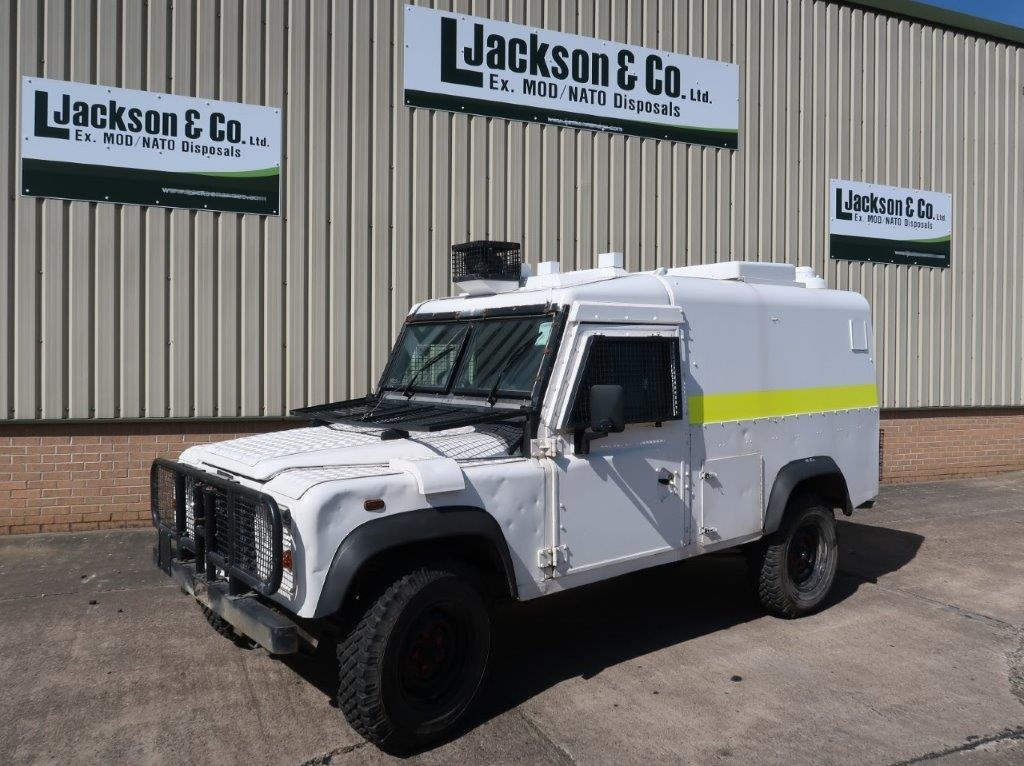 Land Rover Snatch 2A Armoured Defender 110 300TDi for sale | military vehicles