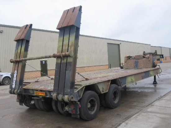 Nicolas 45,000 kg EX.MOD tank transporter trailer  for sale . The UK MOD Direct Sales
