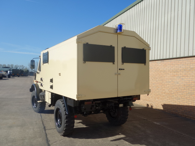 Mercedes Unimog U1300L 4x4 cargo van LHD  for sale . The UK MOD Direct Sales