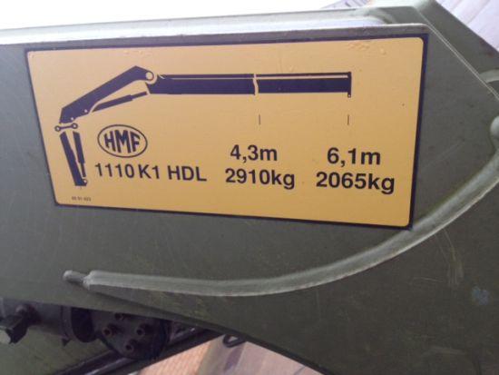 Iveco 260E37 Eurotrakker LHD 6x6 Drop Side truck with HMF crane for sale