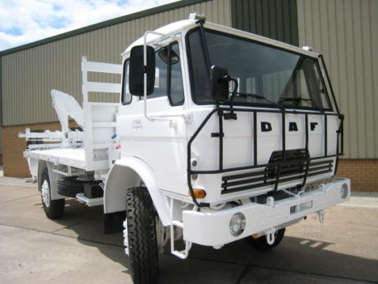 DAF YA4440 LHD ex military  cargo trucks fitted with Atlas crane | used military vehicles, MOD surplus for sale