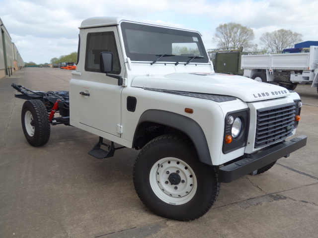 New Armoured Land Rover 130 RHD Chassis Cab  for sale. The UK MOD Direct Sales