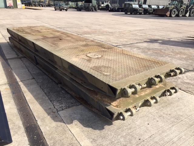 Pair of heavy duty alloy bridge ramp