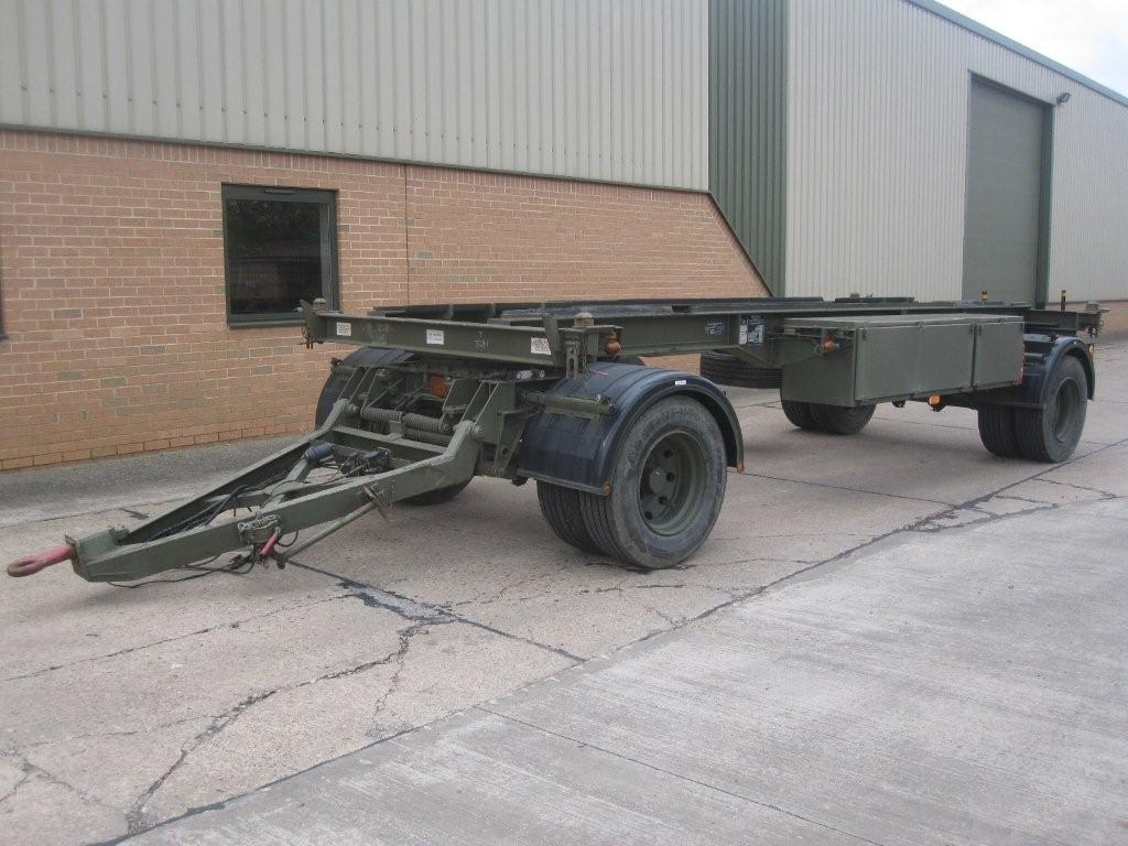 King 20ft container trailer 15 ton capacity   used military vehicles, MOD surplus for sale