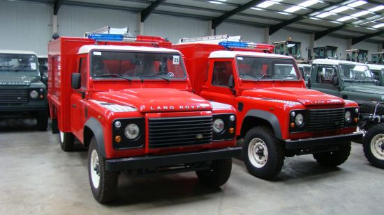 New Land Rover Defender 110 Puma Fire Engine | used military vehicles, MOD surplus for sale