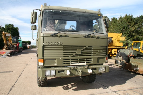 Volvo FL12 6x6 cargo platforms with Hiab 115-1 crane | used military vehicles, MOD surplus for sale