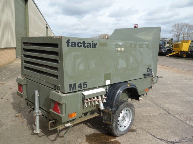Factair General Purpose Air Compressor  for sale. The UK MOD Direct Sales