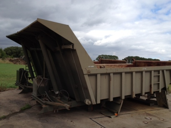 Roelof Heavy Duty Steel Rock Bodies with Edbro Tipping gear  for sale . The UK MOD Direct Sales