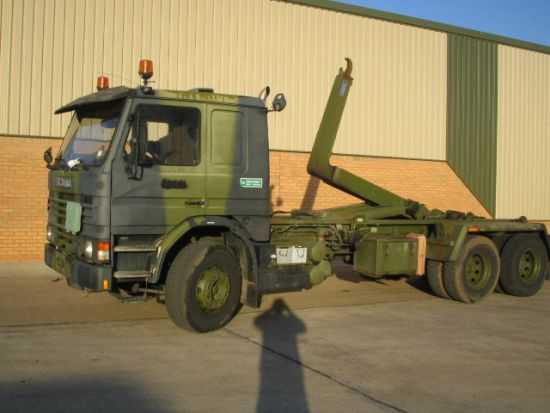 Scania 112H 6x2 hook loader multilift Amphiroll 155A | used military vehicles, MOD surplus for sale