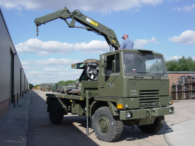 Bedford TM 4x4 Cargo with Atlas Crane for sale | military vehicles