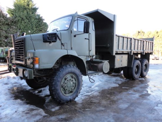 Volvo N10 6x6 tipper truck  for sale . The UK MOD Direct Sales