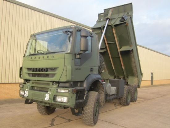 Iveco trakker 6x6 RHD tippers truck | used military vehicles, MOD surplus for sale