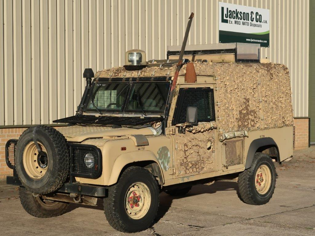 Armoured Land Rover Snatch 2A  Defender 110 300TDi | Military Land Rovers 90, 110,130, Range Rovers, Mercedes for Sale