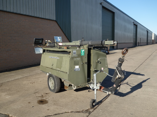 Hi-Lite Towed Lighting Tower 5.5 KVA | used military vehicles, MOD surplus for sale
