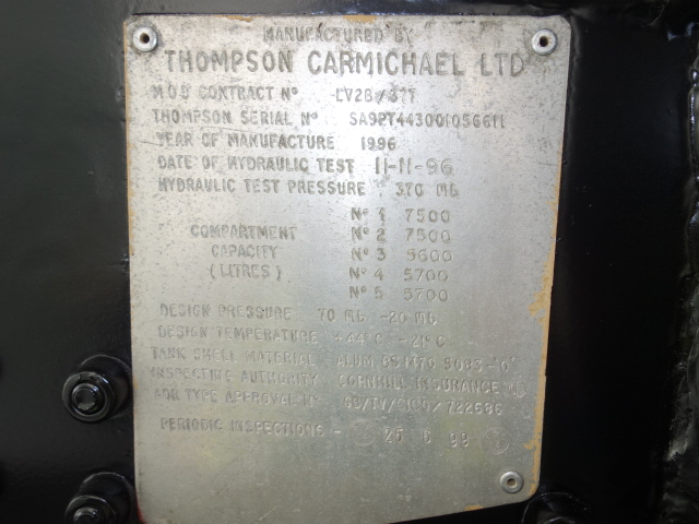 Thompson 32,000 Litre Fuel Tanker Trailer  military for sale
