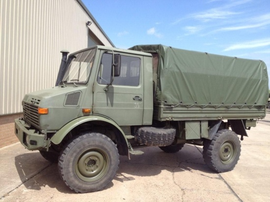 Mercedes unimog U1300L troop carrier / shoot vehicle 4x4 |  EX.MOD direct sales