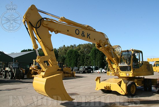 WAS SOLD O&K MH6 SP  (special forces) Wheeled Excavator