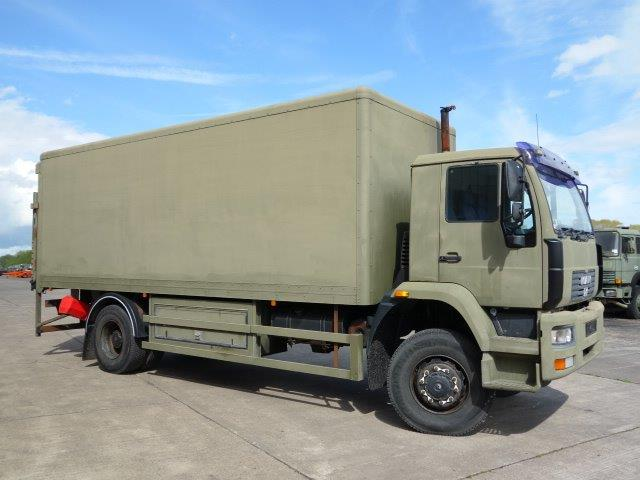 MAN 18.225 4X4 box truck Ex military vehicles for sale, Mod Sales, M.A.N military trucks 4x4, 6x6, 8x