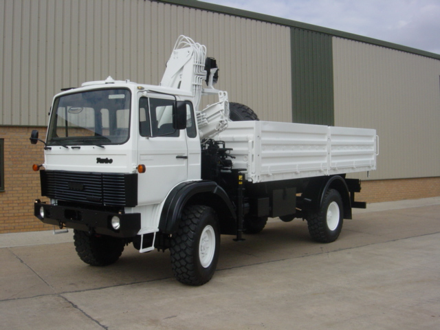 Iveco Magirus 110-16 4x4  truck with crane HIAB 965-90 |  EX.MOD direct sales