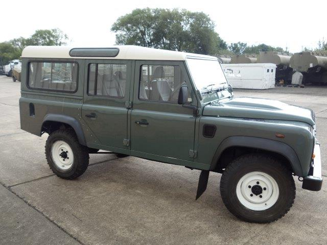 Land Rover Defender 110 TDCi Station Wagon RHD  for sale. The UK MOD Direct Sales