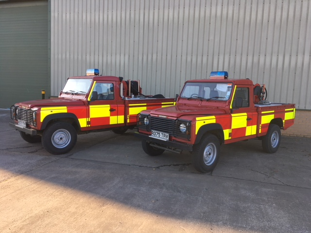 Land Rover 110 Fire Engine | used military vehicles for sale