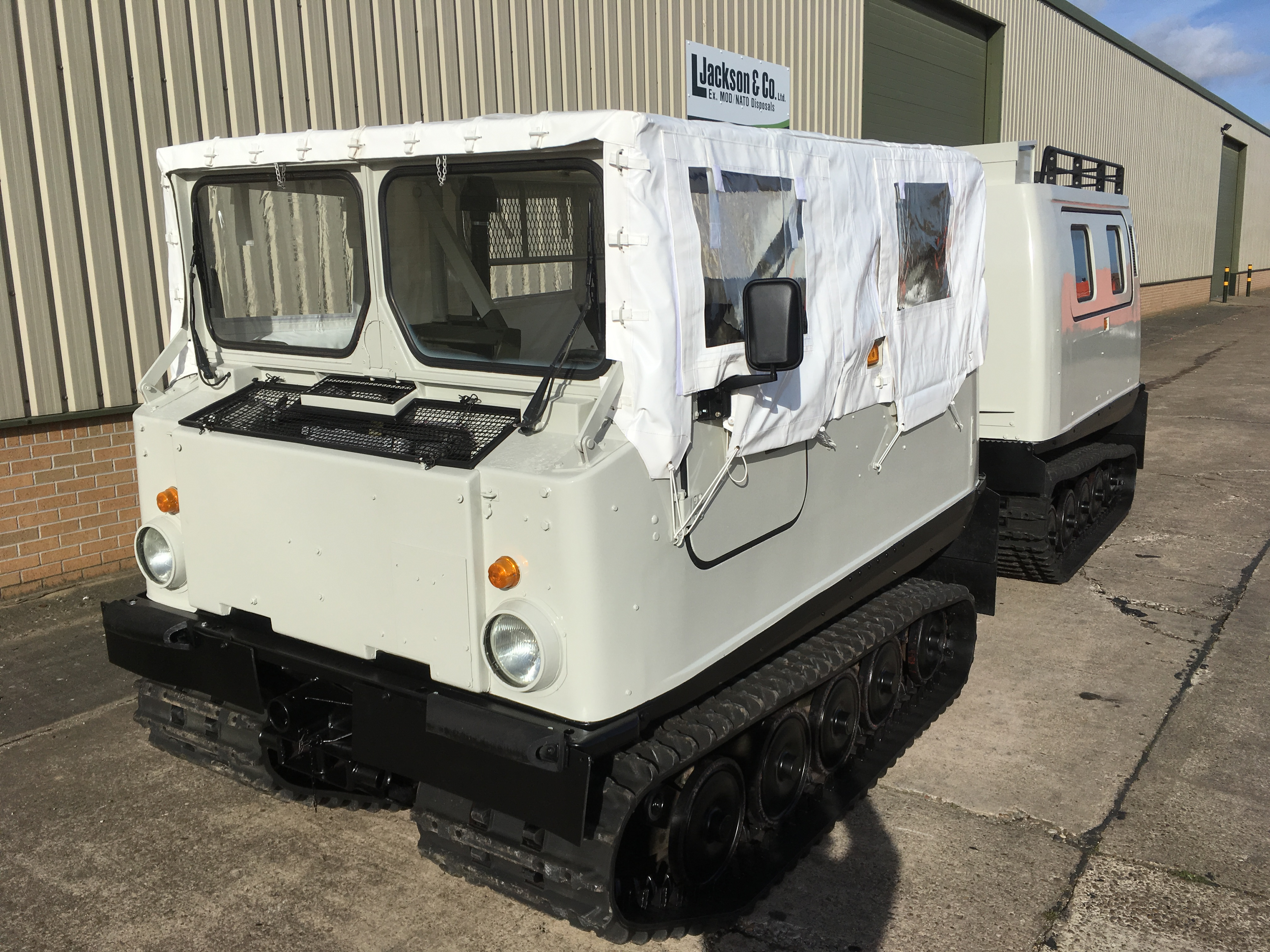 Hagglund Bv206 Soft Top (Front) & Hard Top (Rear)  for sale