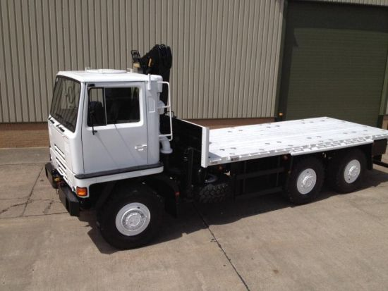 Bedford TM 6x6 Drop Side Cargo Truck with Atlas Crane |  EX.MOD direct sales
