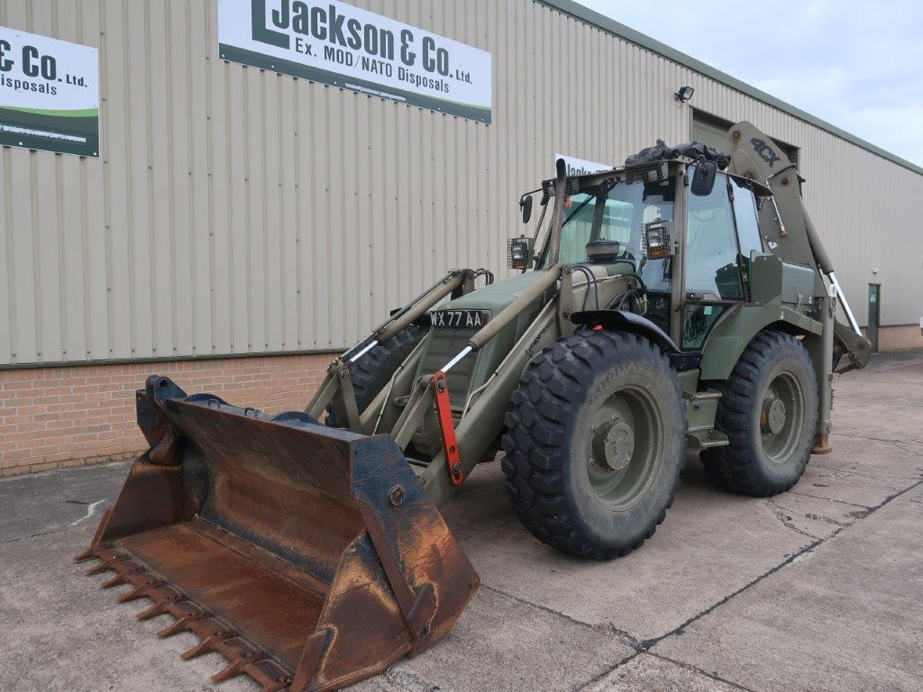 JCB 4CX back military back hoe loader 334 Hours only | Military Land Rovers 90, 110,130, Range Rovers, Mercedes for Sale