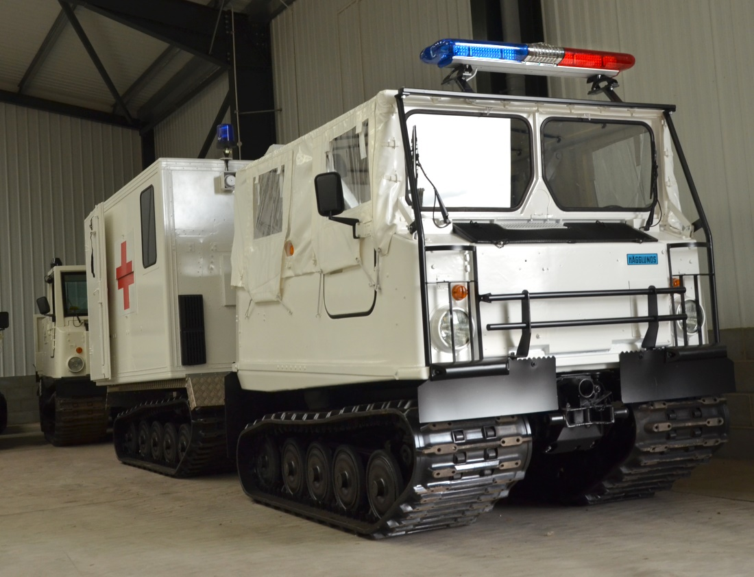 Hagglund Bv206  soft top ambulance for sale | military vehicles