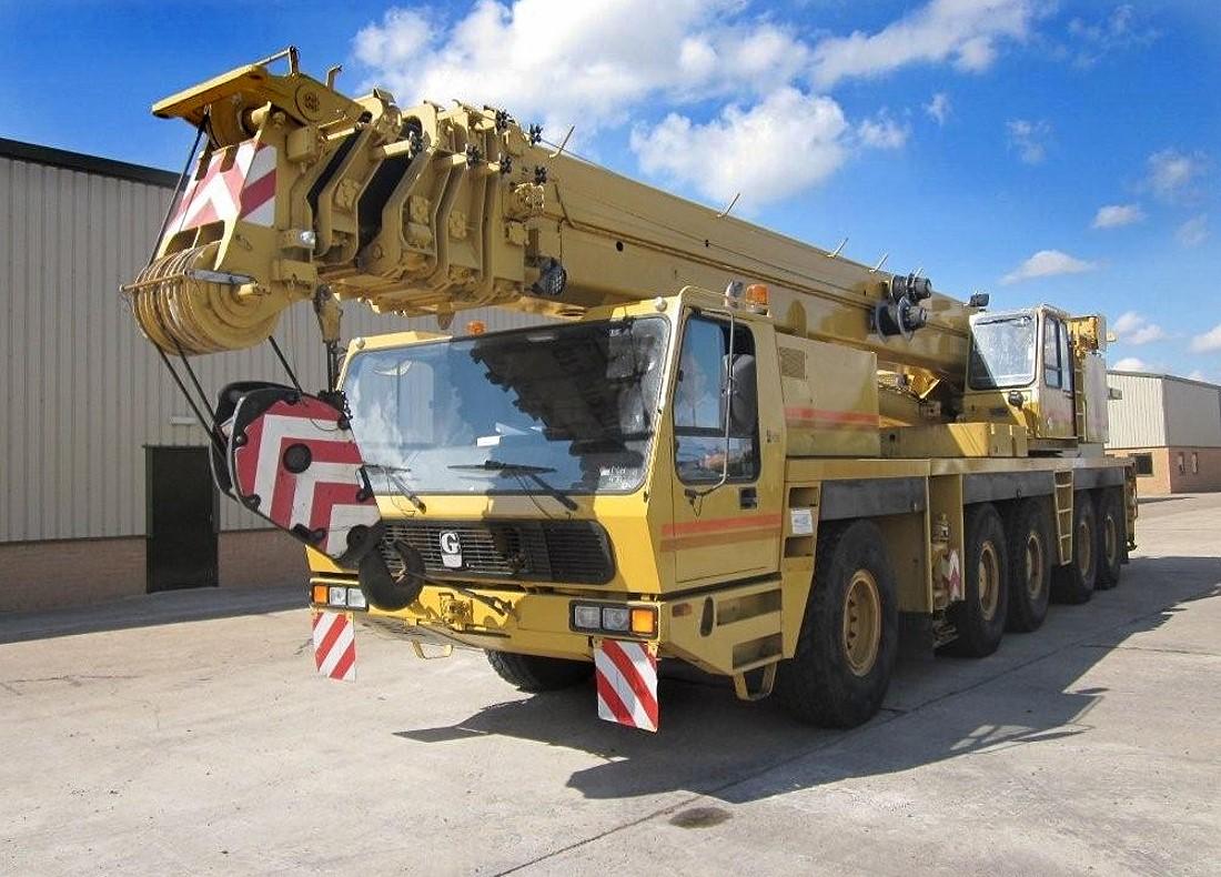 Grove GMK 5130 130 ton 5 axle all terrain military crane for sale | military vehicles