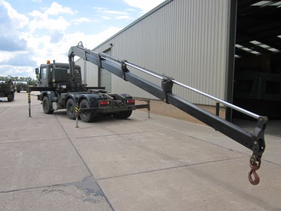 WAS SOLD Man 33.414 6x4 LHD tractor unit with Fassi F210  crane